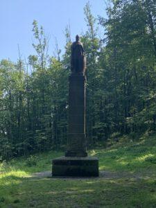 Socha sv. Václava vNárodním sadu Štramberk