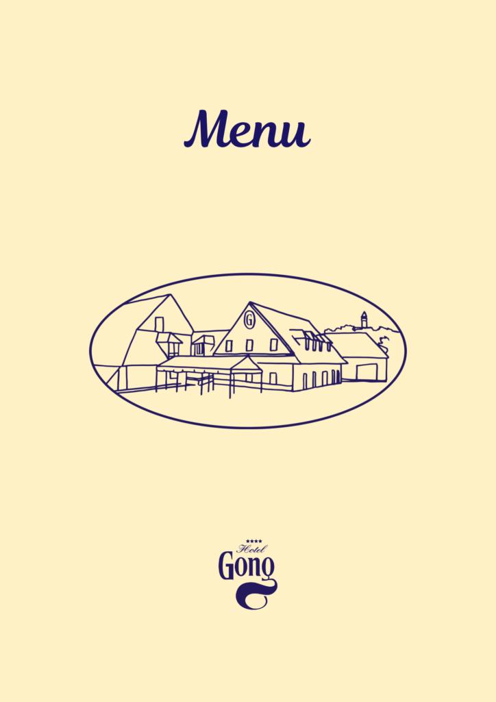Jídelní lístek Hotel Gong