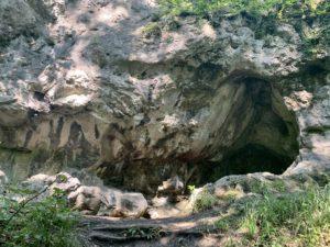 Rock formation Jura stone in the National Park, Štramberk